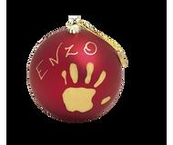Baby Art Christmas Ball - Matt Finish - Red