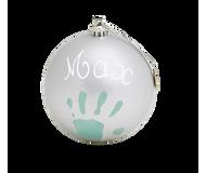 Baby Art Christmas Ball - Matt Finish - Silver
