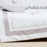 Silver Cross Cot Bed Quilt - To The Moon and Back