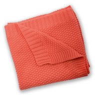 Silvercloud Love Colour Cotton Blanket - Coral