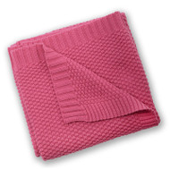 Silvercloud Love Colour Cotton Blanket - Raspberry