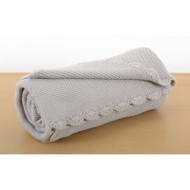 Silvercloud Baby Boutique Garter Stitch Blanket - Baby Grey