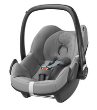 Maxi-Cosi Pebble Car Seat +  Raincover + Rearview Mirror  Package Deal- Sparkling Grey