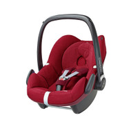 Maxi-Cosi Pebble Car Seat +  Raincover + Rearview Mirror  Package Deal- Robin Red