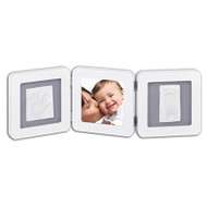 Baby Art  - Double Print Frame - White & Grey