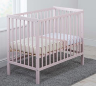 East Coast Carolina Space Saving Cot with Mattress - Pink