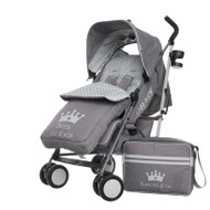 Obaby Zeal Stroller - Born To Rule with Footmuff & Changing Bag