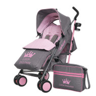 Obaby Zeal Stroller - Little Princess with Footmuff & Changing Bag