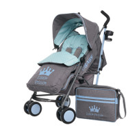 Obaby Zeal Stroller - Little Prince with Footmuff & Changing Bag