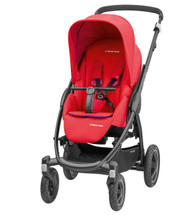 Maxi-Cosi Stella Pushchair + Oria Carrycot + Cabriofix Carseat Package Deal - Red Orchid