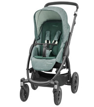 Maxi-Cosi Stella Pushchair +  Oria Carrycot + Cabriofix Carseat Package Deal - Nomad Green