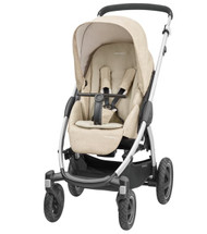 Maxi-Cosi Stella Pushchair + Oria Carrycot + Cabriofix Carseat Package Deal - Nomad Sand