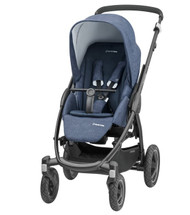 Maxi-Cosi Stella Pushchair + Oria Carrycot + Cabriofix Carseat Package Deal - Nomad Blue