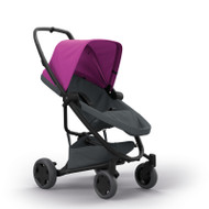 Quinny Zapp Flex Plus + Lux Carrycot + Pebble Plus + Changing Bag - Pink on Graphite