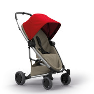 Quinny Zapp Flex Plus + Lux Carrycot + Pebble Plus + Changing Bag - Red on Sand