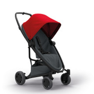 Quinny Zapp Flex Plus + Lux Carrycot + Pebble Plus + Changing Bag - Red on Graphite