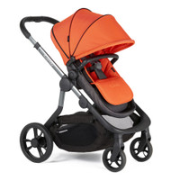 iCandy Orange Pushchair+Carrycot +Seat Unit+2Canopies+Elevators+Raincovers+Car Seat Adaptors - Flash