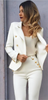 SO CHIC BLAZER WHITE - PALACEOFCHIC