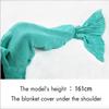 Mermaid tail blanket pink - palaceofchic