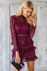 Elegant ruffle lace dress - palaceofchic