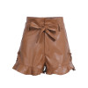 Leather high waist shorts - palaceofchic