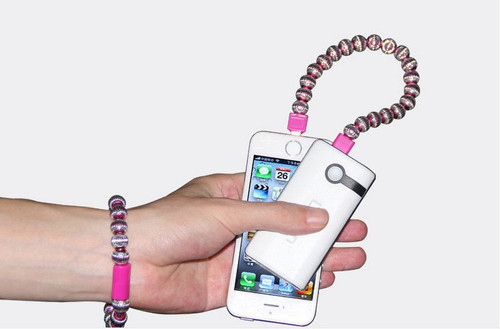"USB Metal Bracelet Charger cable for iphone 5S 6 4.7"" 6 plus for iPad"