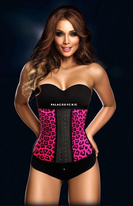 Pink Leopard Long Waist Trainer