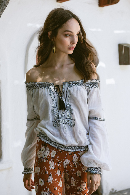 Embroidery  Boho Blouses - PALACEOFCHIC