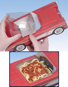 "Durable plastic insert for food, plants, candy, any item you want to place in a virtual plastic serving dish. This insert is a must if you want to serve a food item like ice cream or spaghetti and still use the cardboard car or truck for the serving container. They are 4"" x 4"" and fit perfectly inside the classic cardboard cars or trucks and the modern styles, too! Only 30¢ each!!"