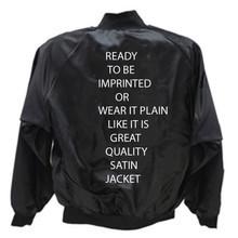Satin Jacket Blank 2X Black