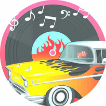 Retro Rock & Roll Party Plates