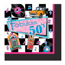 Fabulous 50s Theme Party Napkins