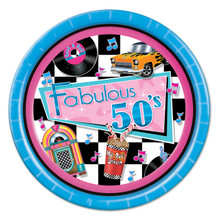 Fabulous 50s Theme Party Plates