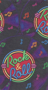 Rock & Roll Party Table Cover