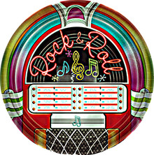 """I Love Rock & Roll Party Plates 9"""""""