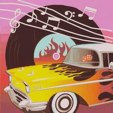 Retro Rock & Roll Luncheon Napkins
