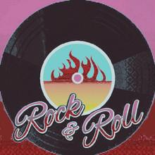 Retro Rock & Roll Beverage Napkins