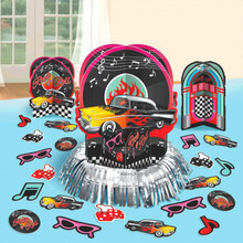 50s Party Theme Table Decorating Cut Out Kit