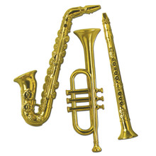 "Gold Plastic 3D Instruments, Great Decor or Wall Hanging, Party Decorations, Craft Projects, Craft Supplies, etc. Limited Quantities. Retired Beistle Item. Get them while you can for 50% off the original price. Great for a school classroom!!  17"" to 21"" & 3 Dimensional!"