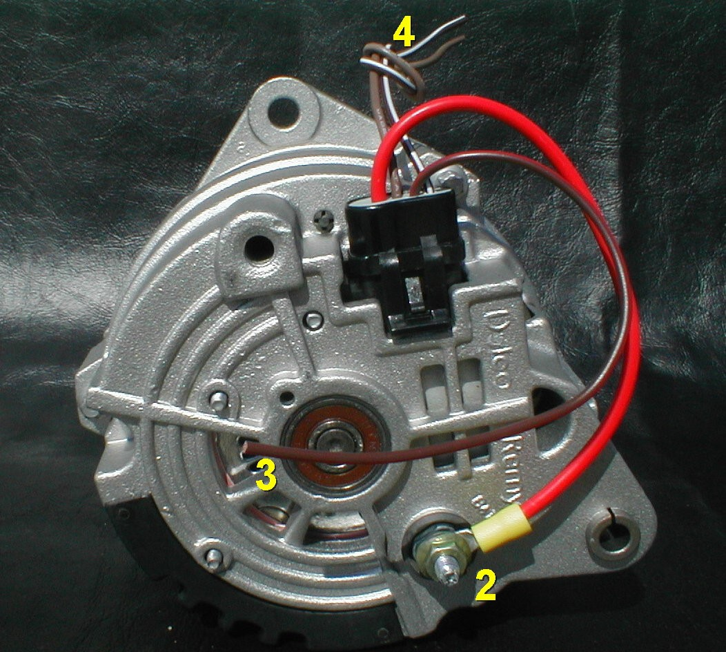 two wire acdelco alternator wiring schematic motorcraft