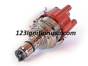 The 123\ALFA-4-R-V is identical to the 123\ALFA-4-R but offers vacuum-advance too.    The unit offers a total of 16 advance-curves to be selected by the end-user.   It has advance-curves for the Giulia Nova, Spider & Bertone 2000, the Duetto and many others. There are also a couple of special curves, as used by well respected tuners.
