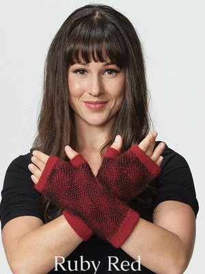 Ruby Red/ Black  Bush Check Glovelet by possumdown