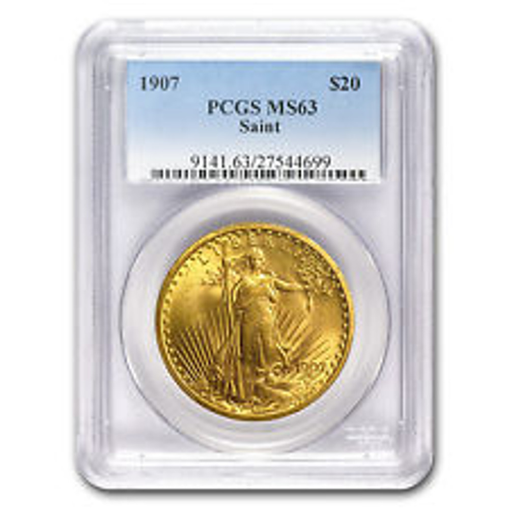 NGC/PCGS MS63 $20 St. Gaudens Gold Coin