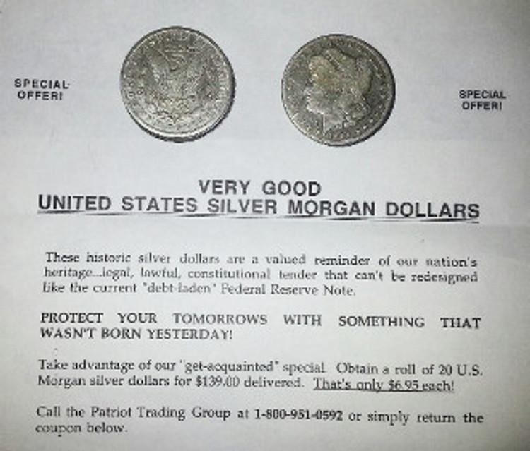 Morgan Silver Dollars (20) Roll