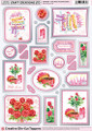 Craft Creations A4 Die-Cut Topper Sheet - Cake Roses & Chocolate