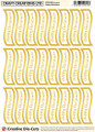 Craft Creations Creative Die-Cut Banners Wavy - Happy Christmas Gold/White