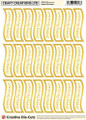 Craft Creations Creative Die-Cut Banners Wavy - Happy Christmas Gold/Cream