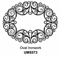 Sue Wilson Stamps To Die For - OVAL IRONWORK UMS573 - 10% Off FREE POSTAGE Pre-Order