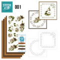 Stitch and Do 1 Card Embroidery Kit - Floral