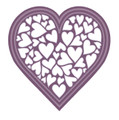 Sue Wilson Finishing Touches Heart of Hearts Die  CED1452 - Pre-Order 15% Off